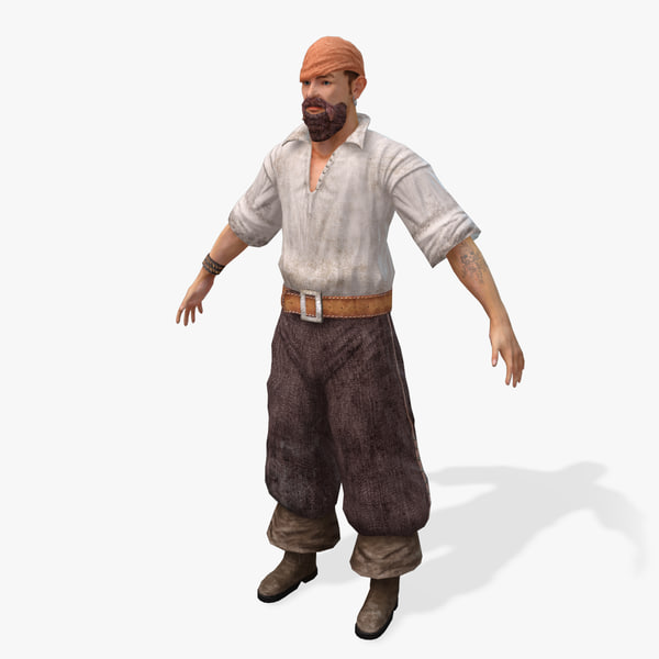 3ds max pirates barmen real-time