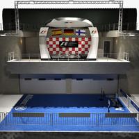 3d formula podium model