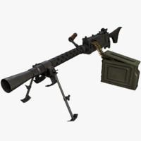 3d model of ready m1919a6