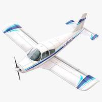 piper cherokee pa-28 plane 3d model