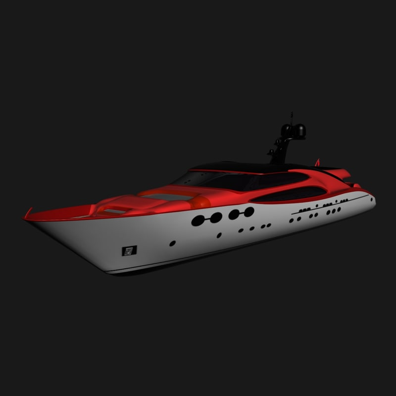 3ds max yacht trinity red