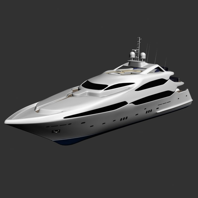 3d yacht cruise boat