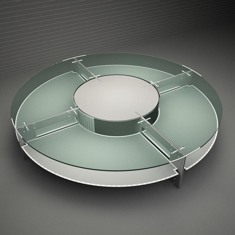 tresserra ronda table - 3d 3ds