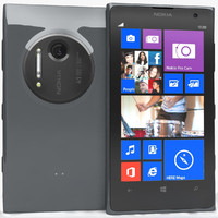 nokia lumia 1020 black 3d model