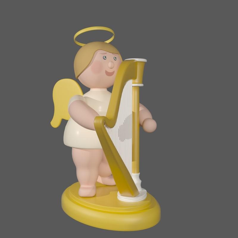 3d model christmas angel