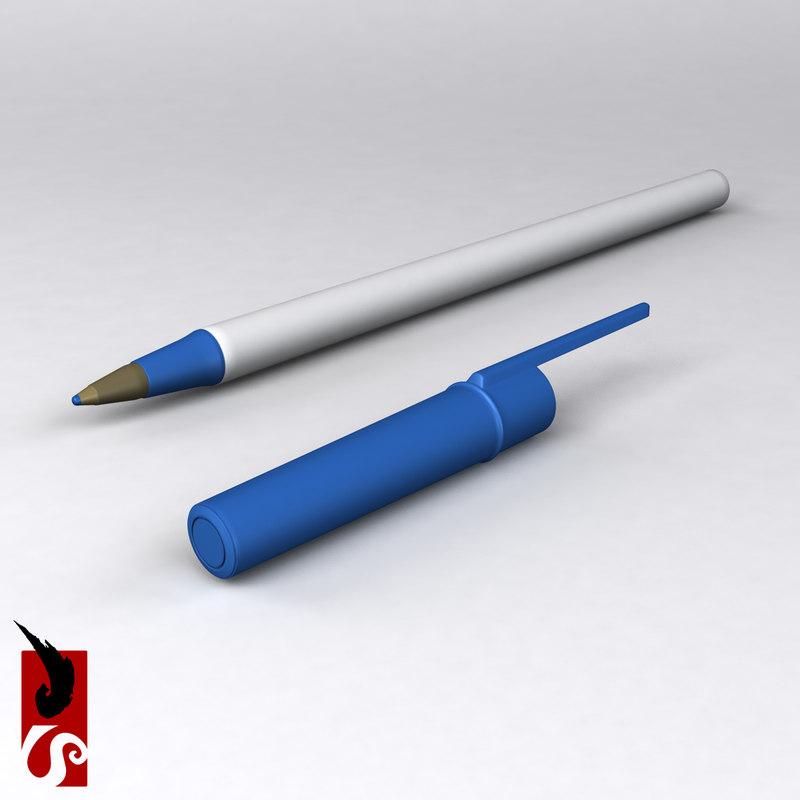 3d model of pen