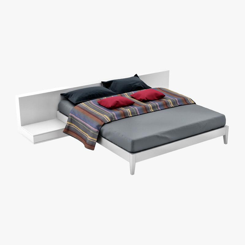 3d model levels bed large