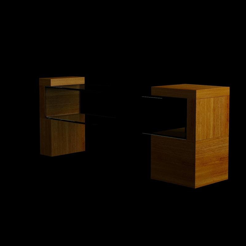 3d model living room table wood