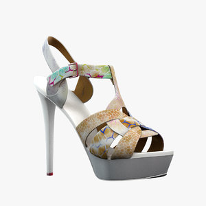 3d model girl shoes