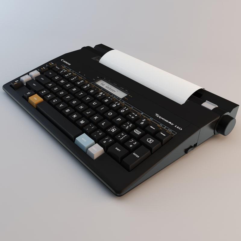 3ds canon typestar retro typewriter