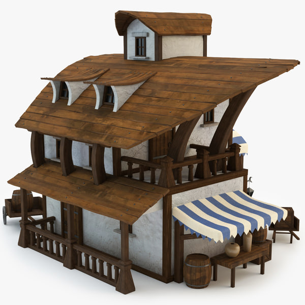 3d model of pirate house
