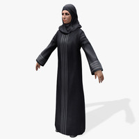 games arabic civilians female 3d model