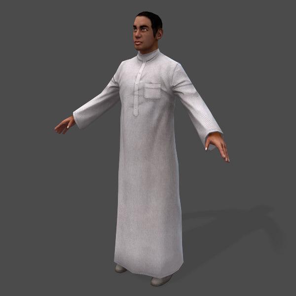 3d games arabic civilians male model