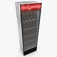3d drink fridge model