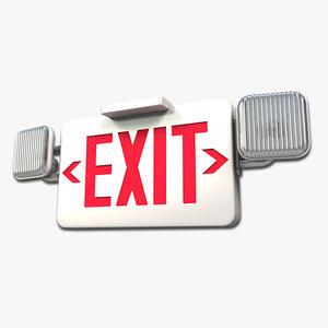 exit sign lighting model