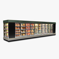 frozen food cases model