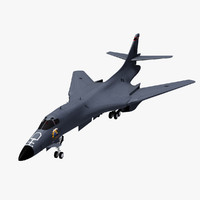 b-1b lancer usaf 3d model