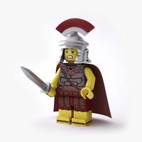 fbx rigged lego roman commander