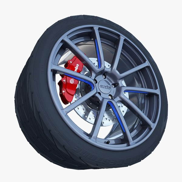 axis sport wheel tire 3d model