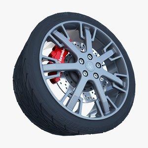 maserati granturismo s wheel tire 3ds