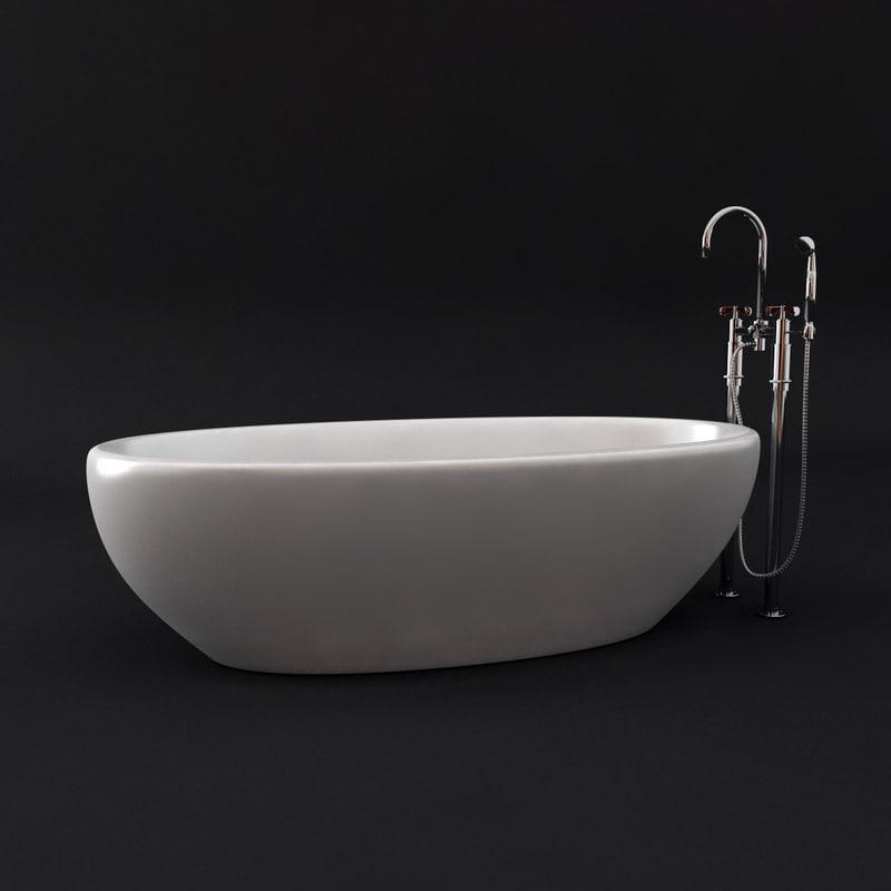 bath tap 3d max