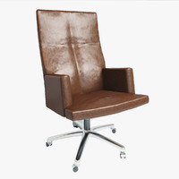 Councill Joyce Executive Chair with Vintage Leather and Modern Style
