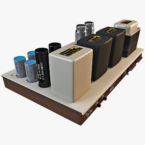 luxman mq-80 amplifier 3d model
