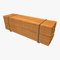 3d model lumber stack