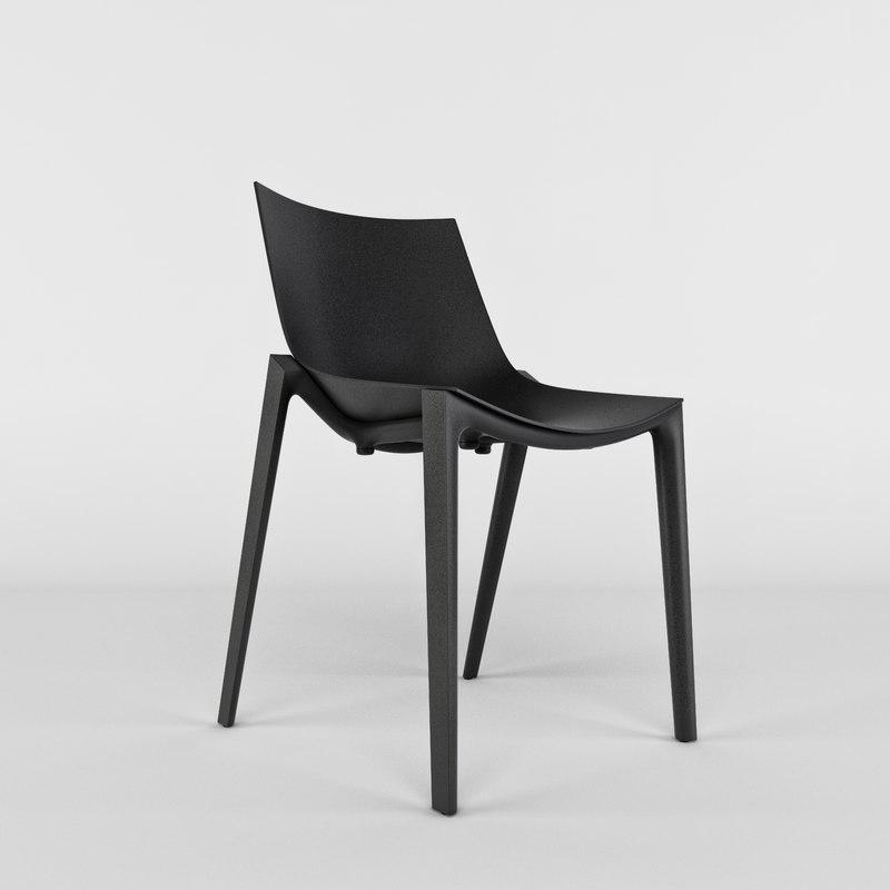 zartan chair starck magis 3d model