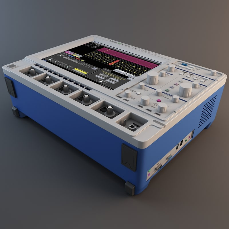 3d model lecroy waverunner oscilloscope