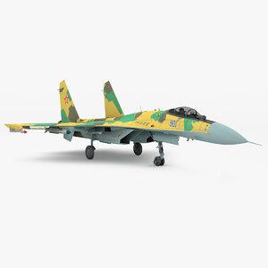 russian sukhoi su-35 fighter 3d model