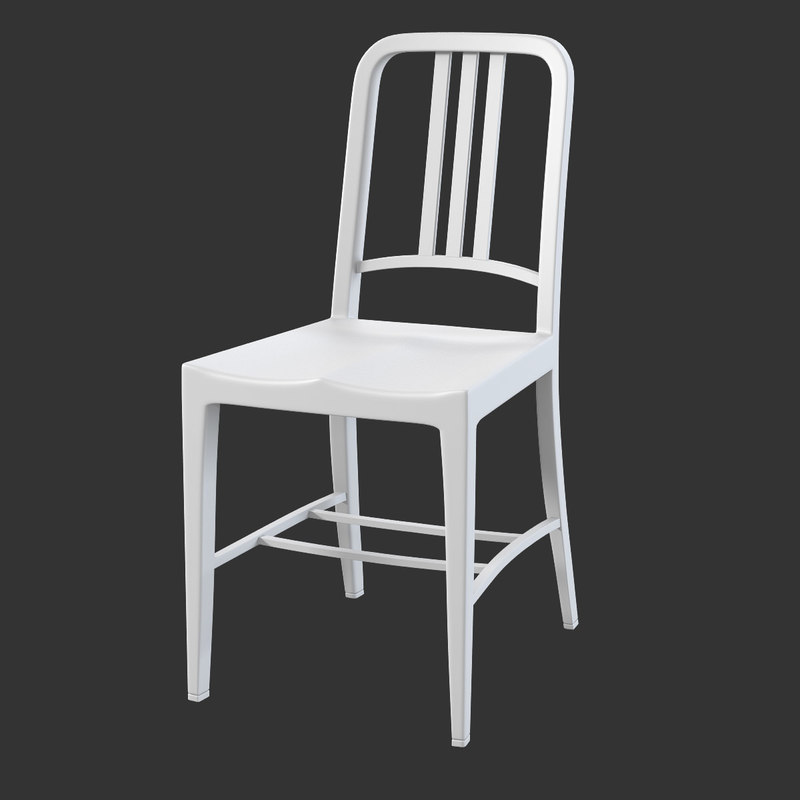 3ds max navy weather chair