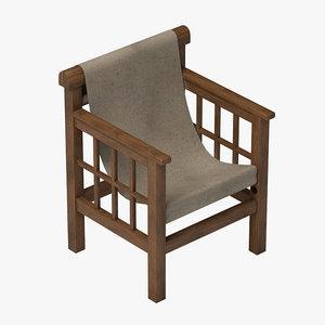 modern chair mallet 3d 3ds