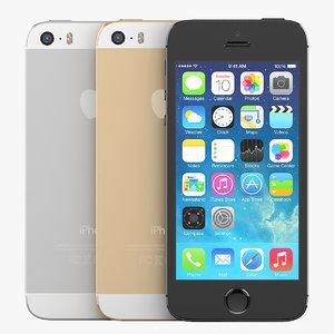 version apple iphone 5s 3d model