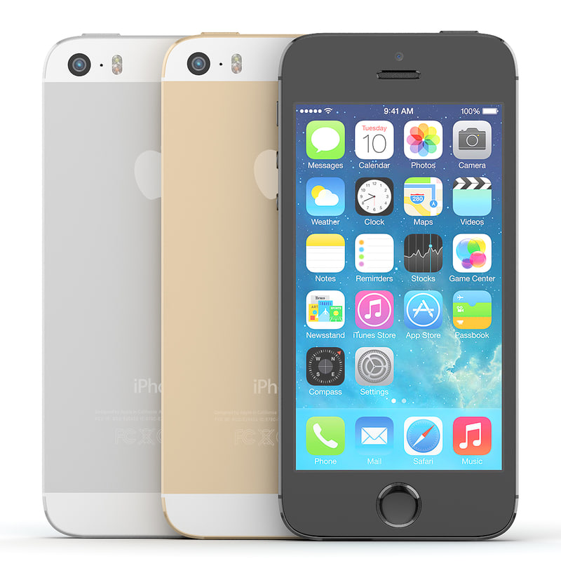 version apple iphone 5s 3d model