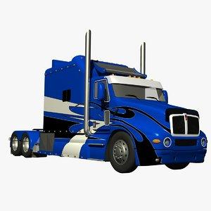t2000 truck custom ari 3d model