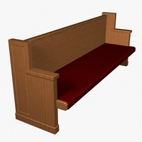 church pew 3d max