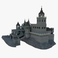 castle palace 3d max