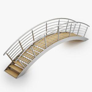 swimming pool bridge - 3d model