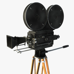 vintage movie camera 3d c4d