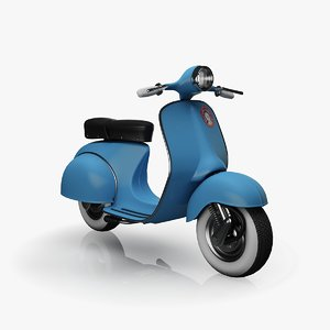 3d vespa rigged parameters model
