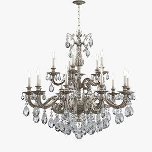 schonbek 5685 milano chandelier 3d model