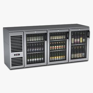 3d beer wine cooler