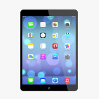 3d model new ipad air space