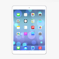 3d new ipad air silver model