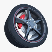 3d model audi r8 spyder wheel tire