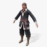 3d model pirates lord real-time