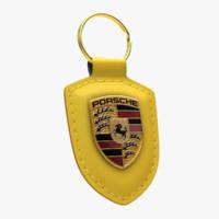 Porsche Crest Keychain