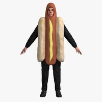 Hotdog Suit (Rigged)