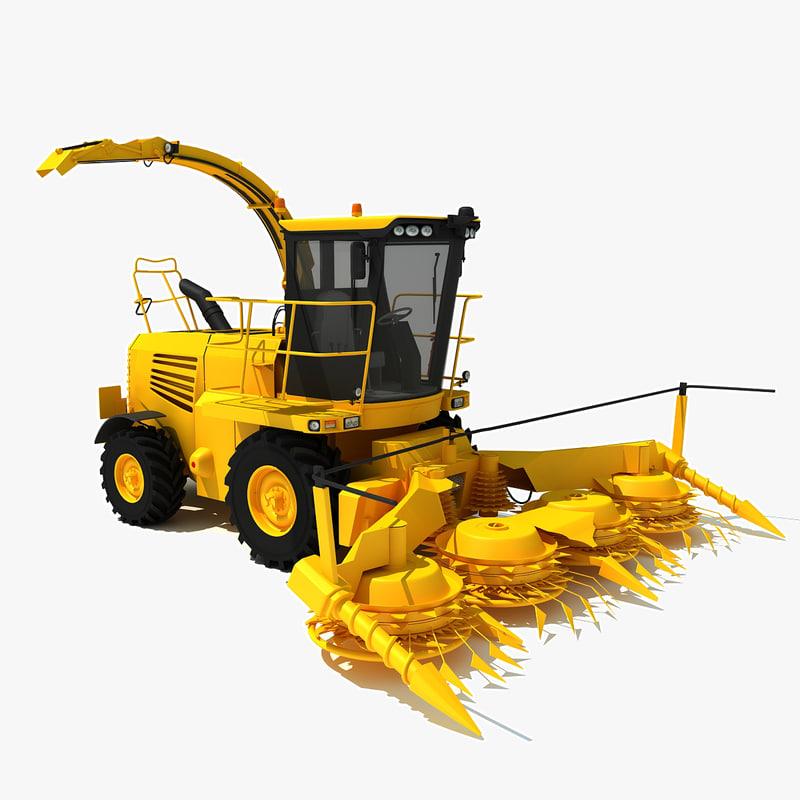 3d forage harvester model